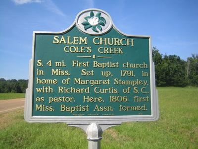 Salem Churcj Coles Creek Jefferson County Ms